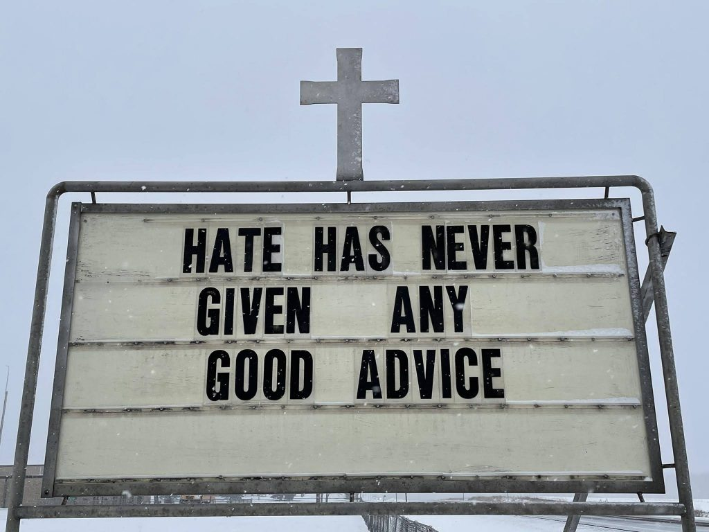 Hate has never given any good advice.