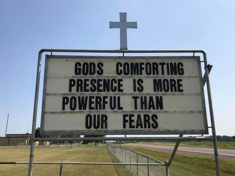 God's comforting presence is more powerful than our fears.